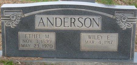 ANDERSON, WILEY EDGAR - Colbert County, Alabama | WILEY EDGAR ANDERSON - Alabama Gravestone Photos