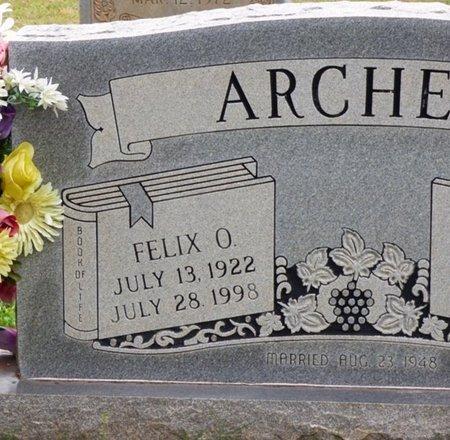 ARCHER, FELIX O - Colbert County, Alabama | FELIX O ARCHER - Alabama Gravestone Photos