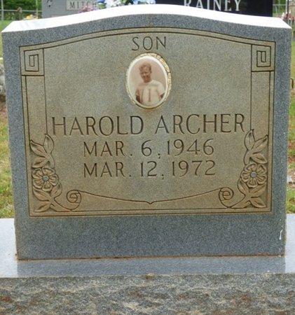 ARCHER, HAROLD - Colbert County, Alabama | HAROLD ARCHER - Alabama Gravestone Photos