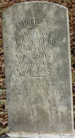 ARCHER, MILLIE T - Colbert County, Alabama | MILLIE T ARCHER - Alabama Gravestone Photos