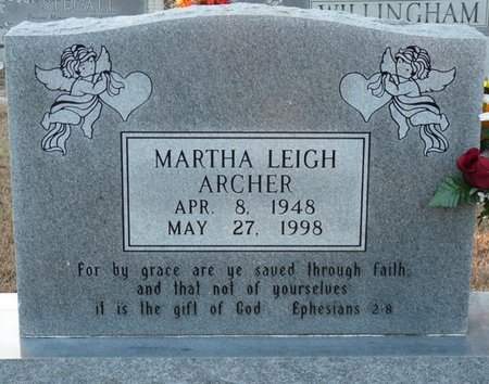 ARCHER, MARTHA LEIGH - Colbert County, Alabama | MARTHA LEIGH ARCHER - Alabama Gravestone Photos