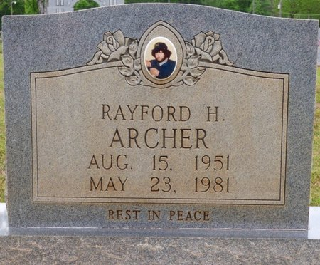 ARCHER, RAYFORD H - Colbert County, Alabama | RAYFORD H ARCHER - Alabama Gravestone Photos