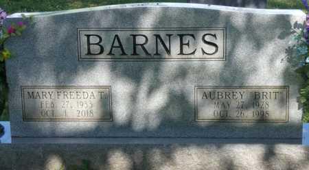 "BARNES, AUBREY ""BRIT"" - Colbert County, Alabama   AUBREY ""BRIT"" BARNES - Alabama Gravestone Photos"