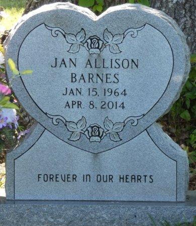 BARNES, JAN ALLISON - Colbert County, Alabama | JAN ALLISON BARNES - Alabama Gravestone Photos