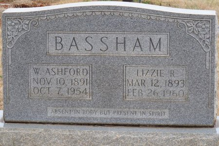 BASSHAM, WILLIAM ASHFORD - Colbert County, Alabama | WILLIAM ASHFORD BASSHAM - Alabama Gravestone Photos