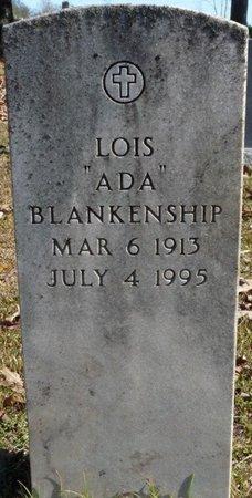 "BLANKENSHIP, LOIS ""ADA"" - Colbert County, Alabama | LOIS ""ADA"" BLANKENSHIP - Alabama Gravestone Photos"