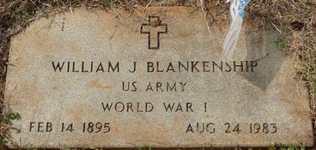 BLANKENSHIP (VETERAN WWI), WILLIAM J - Colbert County, Alabama   WILLIAM J BLANKENSHIP (VETERAN WWI) - Alabama Gravestone Photos
