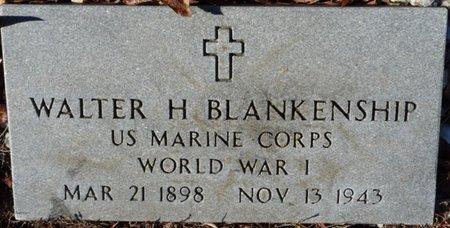 BLANKENSHIP (VETERAN WWI), WALTER H - Colbert County, Alabama | WALTER H BLANKENSHIP (VETERAN WWI) - Alabama Gravestone Photos