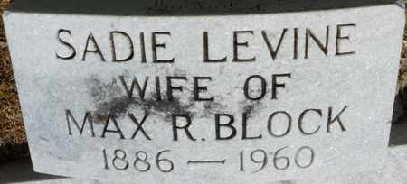 LEVINE BLOCK, SADIE - Colbert County, Alabama | SADIE LEVINE BLOCK - Alabama Gravestone Photos
