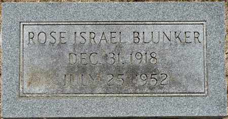 ISRAEL BLUNKER, ROSE - Colbert County, Alabama | ROSE ISRAEL BLUNKER - Alabama Gravestone Photos