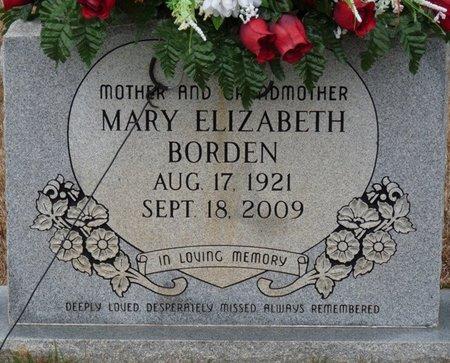 BORDE, MARY ELIZABETH - Colbert County, Alabama   MARY ELIZABETH BORDE - Alabama Gravestone Photos