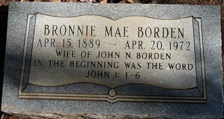 BORDEN, BRONNIE MAE - Colbert County, Alabama | BRONNIE MAE BORDEN - Alabama Gravestone Photos