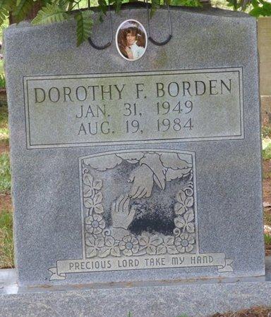 BORDEN, DOROTHY F - Colbert County, Alabama | DOROTHY F BORDEN - Alabama Gravestone Photos