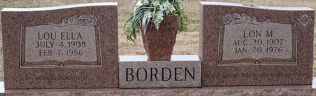 BORDEN, LON M - Colbert County, Alabama | LON M BORDEN - Alabama Gravestone Photos