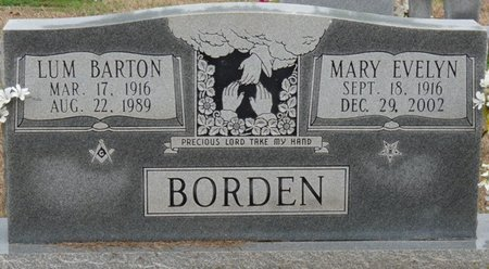 BORDEN, MARY EVELYN - Colbert County, Alabama | MARY EVELYN BORDEN - Alabama Gravestone Photos
