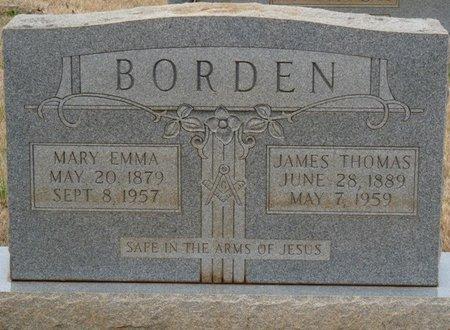 BORDEN, MARY EMMA - Colbert County, Alabama | MARY EMMA BORDEN - Alabama Gravestone Photos