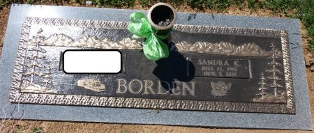 BORDEN, SANDRA KAY - Colbert County, Alabama | SANDRA KAY BORDEN - Alabama Gravestone Photos