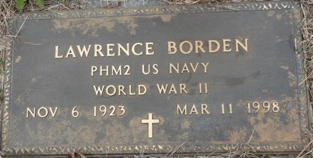 BORDEN (VETERAN WWII), LAWRECE - Colbert County, Alabama | LAWRECE BORDEN (VETERAN WWII) - Alabama Gravestone Photos