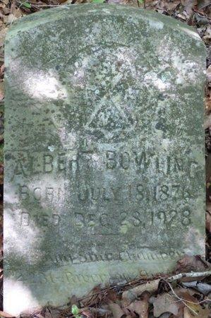 BOWLING, ALBERT - Colbert County, Alabama   ALBERT BOWLING - Alabama Gravestone Photos
