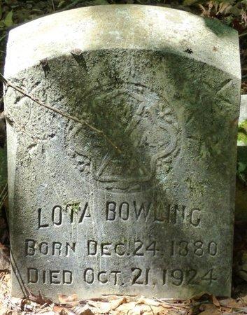BOWLING, LOTA - Colbert County, Alabama   LOTA BOWLING - Alabama Gravestone Photos