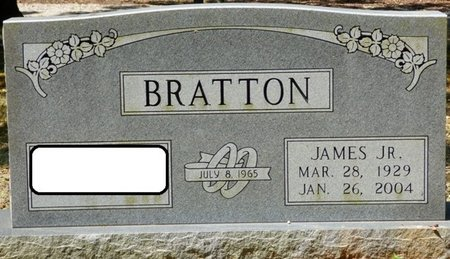 BRATTON JR., JAMES - Colbert County, Alabama | JAMES BRATTON JR. - Alabama Gravestone Photos