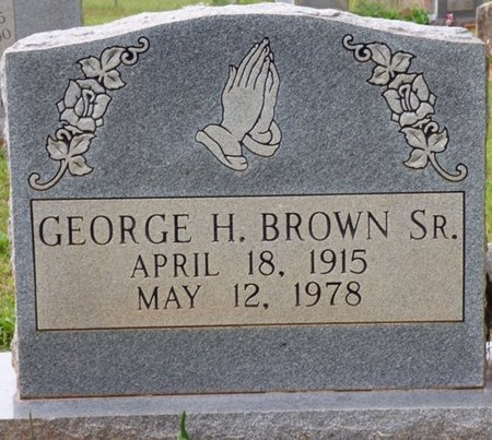 BROWN SR., GEORGE H - Colbert County, Alabama | GEORGE H BROWN SR. - Alabama Gravestone Photos