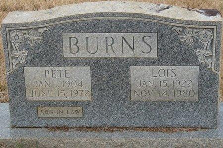 BURNS, PETE - Colbert County, Alabama | PETE BURNS - Alabama Gravestone Photos