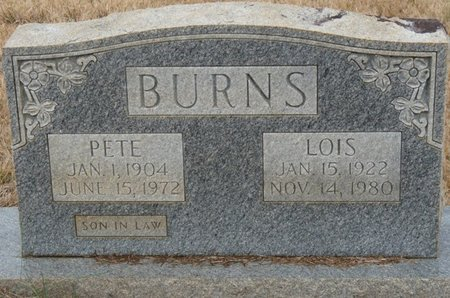 BURNS, LOIS - Colbert County, Alabama | LOIS BURNS - Alabama Gravestone Photos