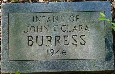 BURRESS, INFANT - Colbert County, Alabama | INFANT BURRESS - Alabama Gravestone Photos