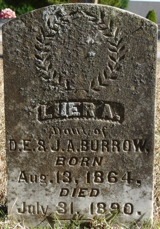 BURROW, LUER A - Colbert County, Alabama | LUER A BURROW - Alabama Gravestone Photos