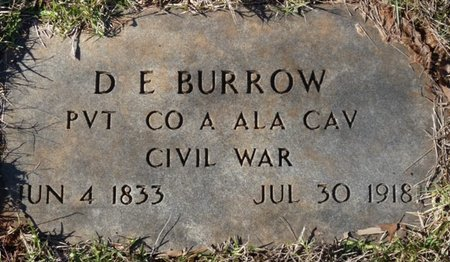 BURROW (VETERAN CIVIL WAR), DEWIT E - Colbert County, Alabama | DEWIT E BURROW (VETERAN CIVIL WAR) - Alabama Gravestone Photos