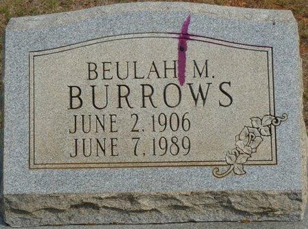 BURROWS, BEULAH M - Colbert County, Alabama | BEULAH M BURROWS - Alabama Gravestone Photos