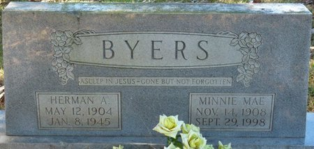 BYERS, HERMAN A - Colbert County, Alabama | HERMAN A BYERS - Alabama Gravestone Photos