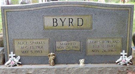 BYRD, JAMES ROWLAND - Colbert County, Alabama   JAMES ROWLAND BYRD - Alabama Gravestone Photos