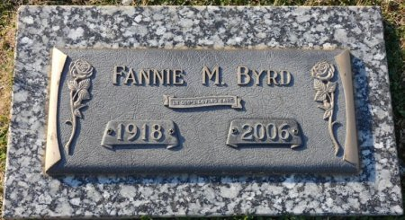 BYRD, FANNIE M - Colbert County, Alabama | FANNIE M BYRD - Alabama Gravestone Photos