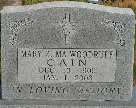 WOODRUFF CAIN, MARY ZUMA - Colbert County, Alabama | MARY ZUMA WOODRUFF CAIN - Alabama Gravestone Photos