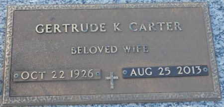 CARTER, GERTRUDE - Colbert County, Alabama | GERTRUDE CARTER - Alabama Gravestone Photos