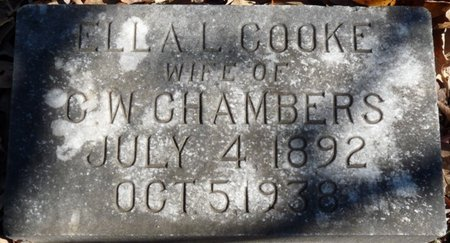 COOKE CHAMBERS, ELLA L - Colbert County, Alabama | ELLA L COOKE CHAMBERS - Alabama Gravestone Photos