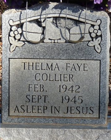 COLLIER, THELMA FAYE - Colbert County, Alabama | THELMA FAYE COLLIER - Alabama Gravestone Photos