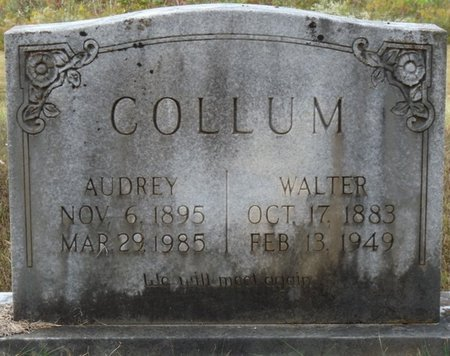 COLLUM, AUDREY - Colbert County, Alabama | AUDREY COLLUM - Alabama Gravestone Photos
