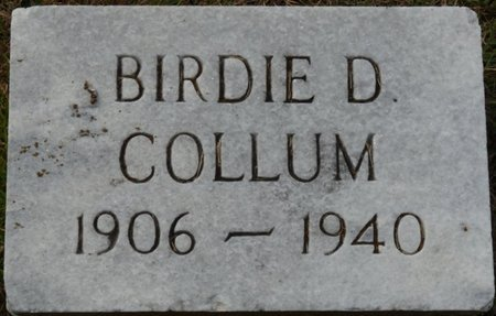 COLLUM, BIRDIE D - Colbert County, Alabama | BIRDIE D COLLUM - Alabama Gravestone Photos