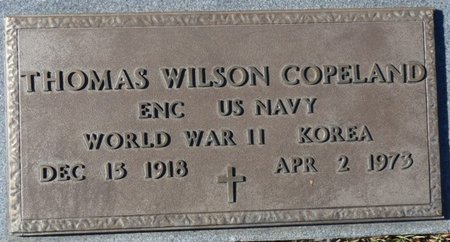 COPELAND (VETERAN WWII-KOREA), THOMAS WILSON - Colbert County, Alabama | THOMAS WILSON COPELAND (VETERAN WWII-KOREA) - Alabama Gravestone Photos