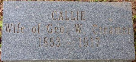 "CREAMER, CAROLINE ""CALLIE"" - Colbert County, Alabama | CAROLINE ""CALLIE"" CREAMER - Alabama Gravestone Photos"