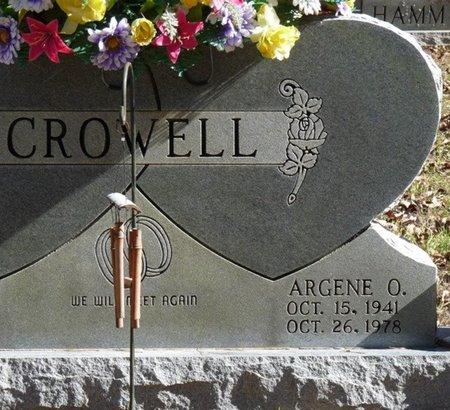CROWELL, ARGENE O - Colbert County, Alabama | ARGENE O CROWELL - Alabama Gravestone Photos