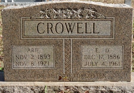 CROWELL, ARIE - Colbert County, Alabama | ARIE CROWELL - Alabama Gravestone Photos