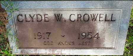 CROWELL, CLYDE W - Colbert County, Alabama   CLYDE W CROWELL - Alabama Gravestone Photos