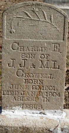 CROWELL, CHARLIE E - Colbert County, Alabama | CHARLIE E CROWELL - Alabama Gravestone Photos