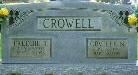 CROWELL, ORVILLE N - Colbert County, Alabama   ORVILLE N CROWELL - Alabama Gravestone Photos