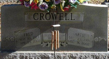 CROWELL, ARTIE - Colbert County, Alabama | ARTIE CROWELL - Alabama Gravestone Photos