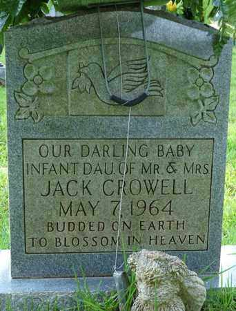 CROWELL, INFANT DAUGHTER - Colbert County, Alabama | INFANT DAUGHTER CROWELL - Alabama Gravestone Photos